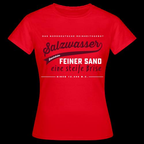 Deichdisko T-Shirt Norddeutsches Reinheitsgebot - Frauen T-Shirt