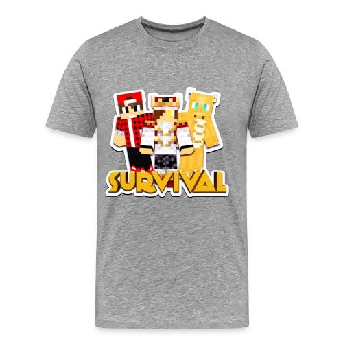 Minecraft Survival Helden Shirt - Mannen Premium T-shirt