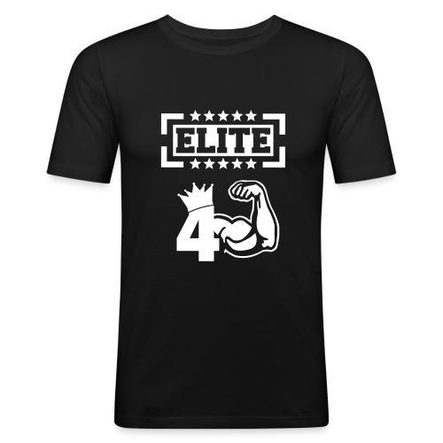 El4F Fitness T-Shirt - Schwarz - Männer Slim Fit T-Shirt