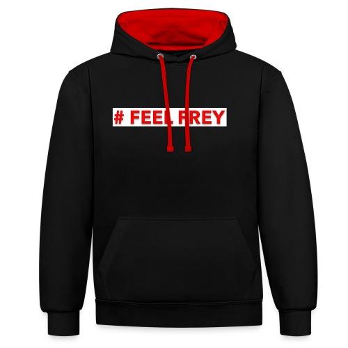 FEEL FREY Hoodie Contrast - Kontrast-Hoodie