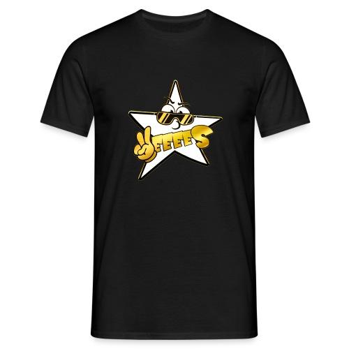 Männer T-Shirt - Weiss Gold Yes Logo standart T-Shirt in mehreren Farben! Druck auf der Brust .