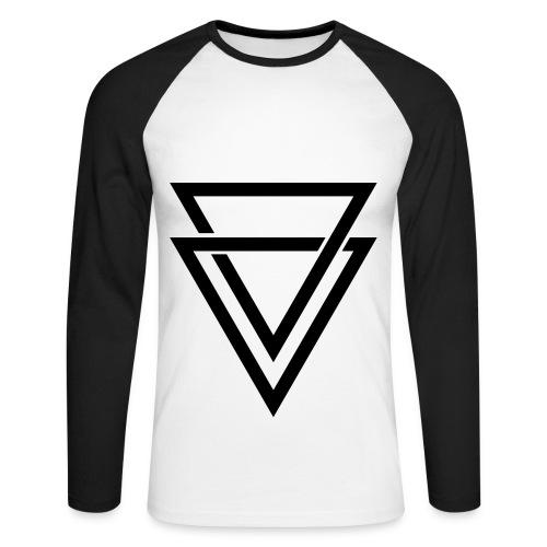 dreieck_shirt - Männer Baseballshirt langarm