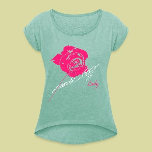 Rose Style - T-shirt à manches retroussées Femme