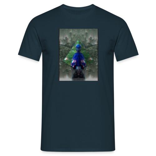 Glitched Parrot - Männer T-Shirt