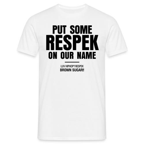 RESPEK_BRWNSGR male black - Männer T-Shirt