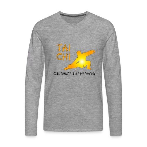 Tai Chi - Cultivate The Harmony Long sleeve shirts - Men's Premium Longsleeve Shirt