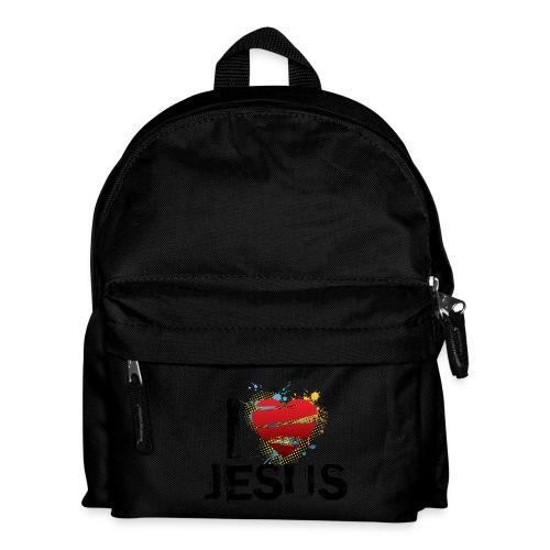 zaino per la scuola con scritta: I love Jesus - Zaino per bambini