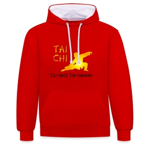 Tai Chi - Cultivate The Harmony Hoodies & Sweatshirts - Contrast Colour Hoodie