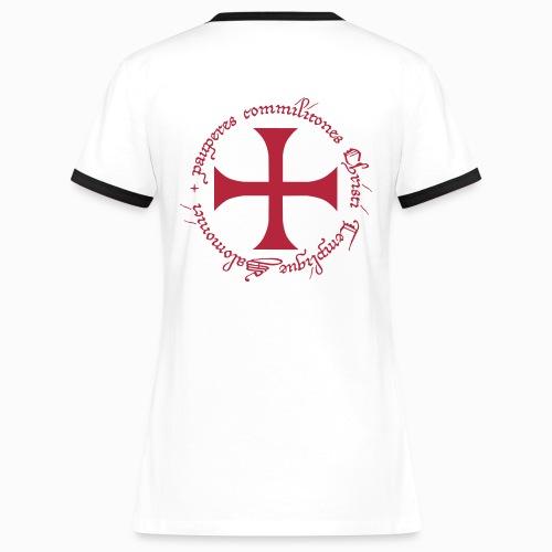 Tee shirt contraste Femme Ordre du Temple - T-shirt contrasté Femme