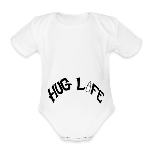 Hug Life - White - Organic Short-sleeved Baby Bodysuit