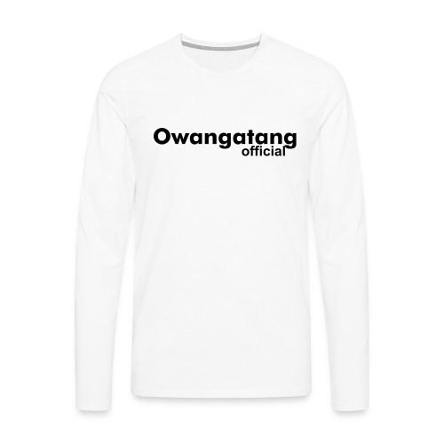 Owangatang Official | White Mens T-Shirt - Men's Premium Longsleeve Shirt