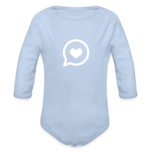 Herz – Sprechblase – Liebe – Baby Strampler (dh) - Baby Bio-Langarm-Body