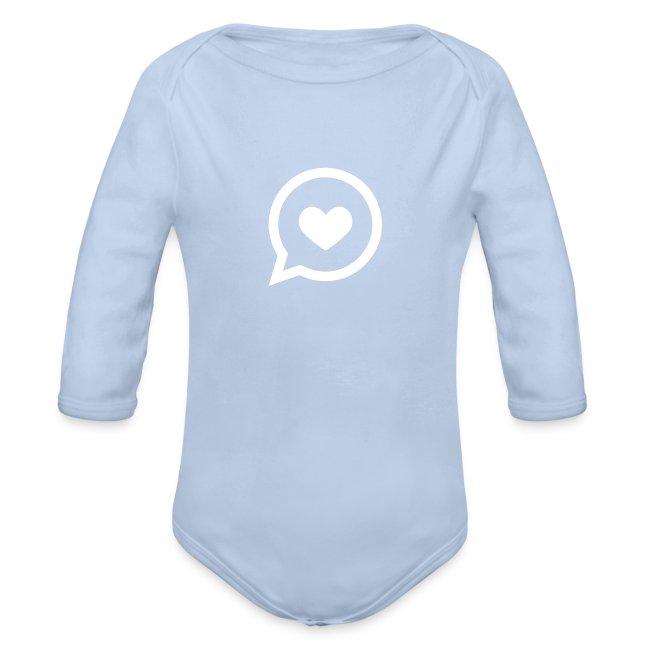 Herz – Sprechblase – Liebe – Baby Strampler (dh)