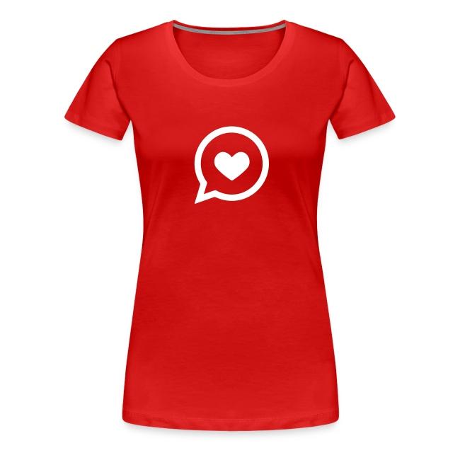 Herz – Sprechblase – Liebe – Frauen T-Shirt (dh)