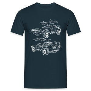 Delorean Time Machine - Men's T-Shirt