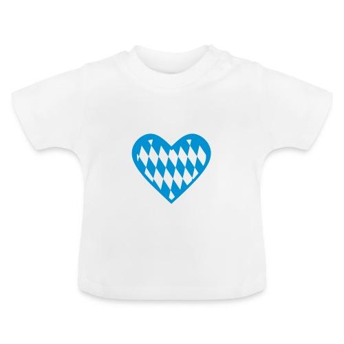 Baby Shirt mit bayerischem Herz - Baby T-Shirt