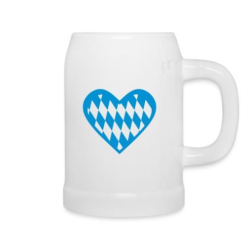 Bierkrug mit bayerischem Herz - Bierkrug
