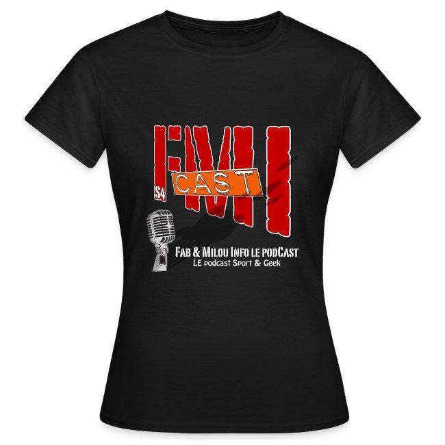T-shirt Femme Basique avec Logo Saison 4