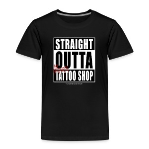 straightoutta tattoo shop - Kinder Premium T-Shirt