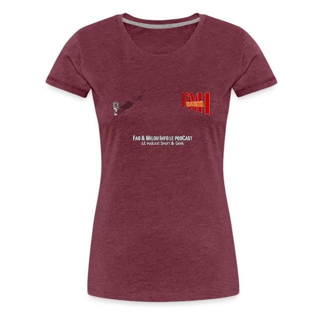 T-shirt Femme Spreadshirt petit Logo