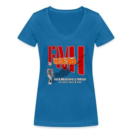 T-shirt femme col V Logo Saison 4 - T-shirt bio col V Stanley & Stella Femme