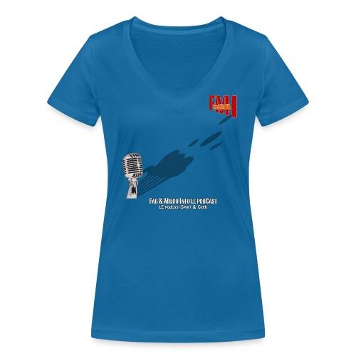 T-shirt femme col V Gros Micro - T-shirt bio col V Stanley & Stella Femme