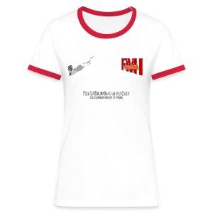 T-shirt Femme bi-color petit Logo - T-shirt contrasté Femme