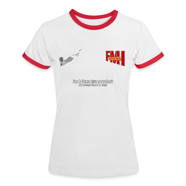 T-shirt Femme bi-color petit Logo