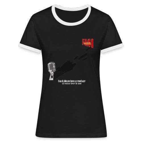 T-shirt Femme bi-color Gros Micro - T-shirt contrasté Femme