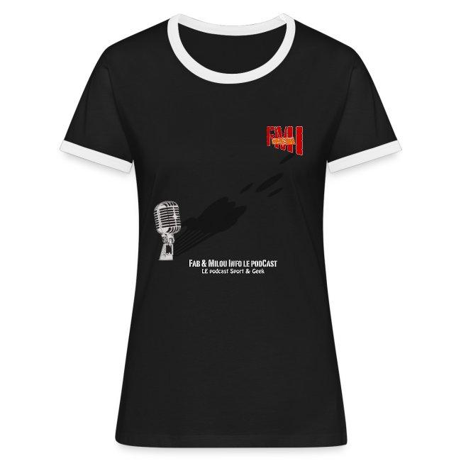 T-shirt Femme bi-color Gros Micro