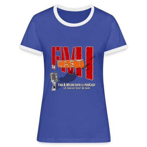 T-shirt Femme bi-color Logo Saison 4 - T-shirt contrasté Femme