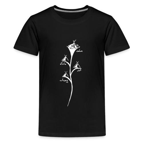 wahre Liebe ist schwarz - Teenager Premium T-Shirt