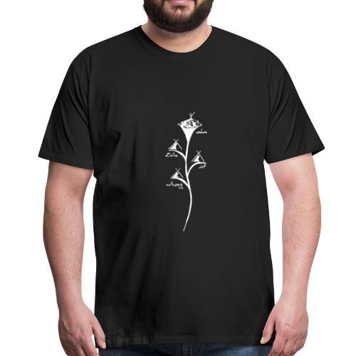 wahre Liebe ist schwarz - Männer Premium T-Shirt