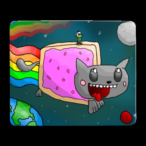 CrushGames-Mousepad - Große Regenbogenkatze - Mousepad (Querformat)