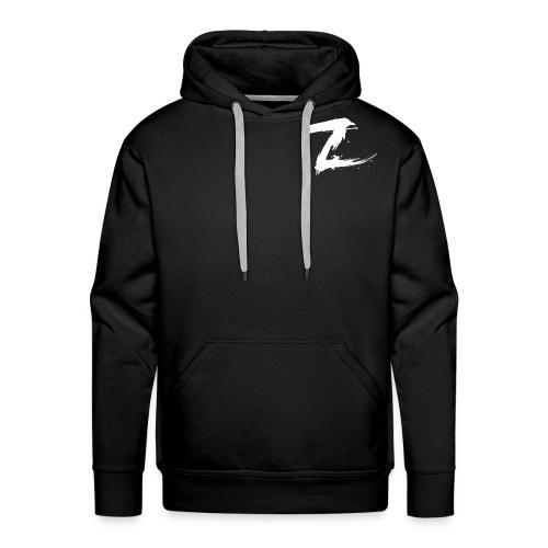 Mens Premium Hoodie with White Logo(Black) - Men's Premium Hoodie