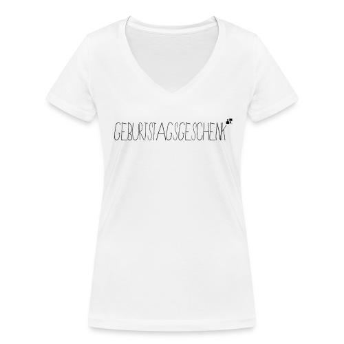 Geburtstagsgeschenk - Frauen Bio-T-Shirt mit V-Ausschnitt von Stanley & Stella