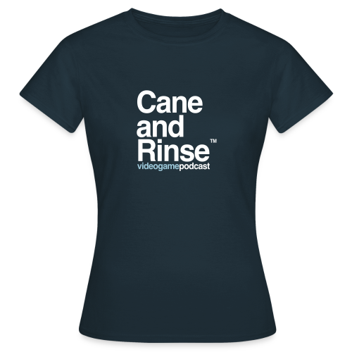 Cane and Rinse logo Navy T - Women's T-Shirt