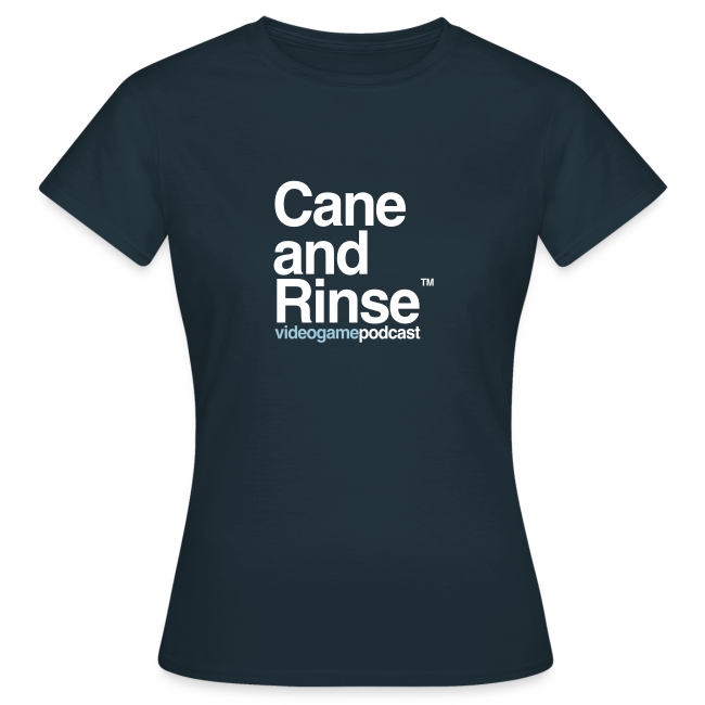 Cane and Rinse logo Navy T