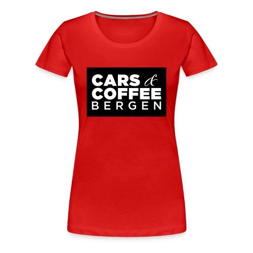 Cars & Coffee Bergen Premium T-skjorte for kvinner - Premium T-skjorte for kvinner