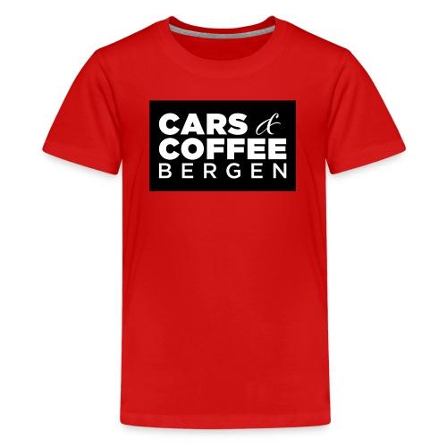 Cars & Coffee Bergen Premium T-skjorte for tenåringer - Premium T-skjorte for tenåringer