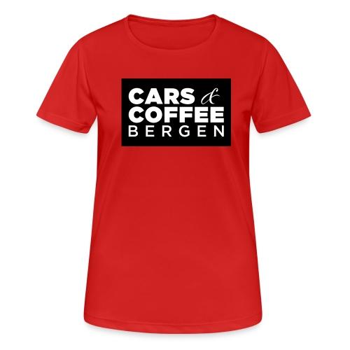 Cars & Coffee Bergen Pustende T-skjorte for kvinner - Pustende T-skjorte for kvinner