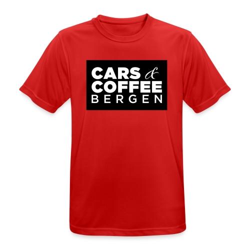 Cars & Coffee Bergen Pustende T-skjorte for menn - Pustende T-skjorte for menn