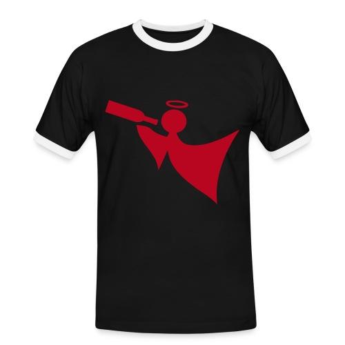T-Shirt Saufen - Männer Kontrast-T-Shirt