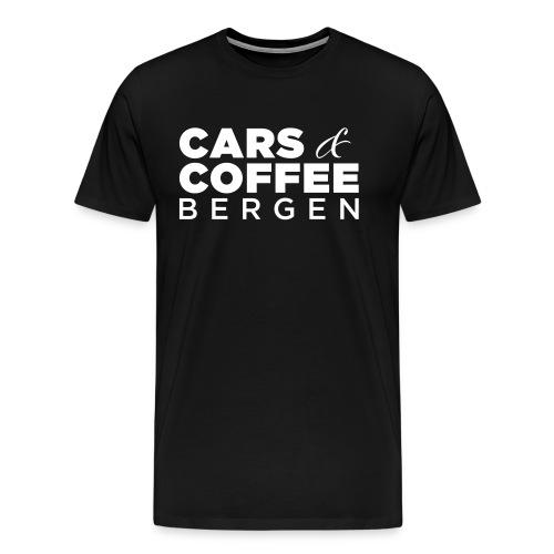 Cars & Coffee Bergen Premium T-skjorte for menn - Premium T-skjorte for menn