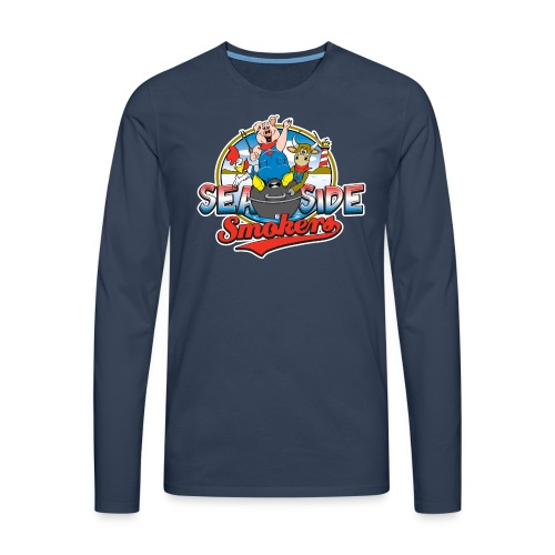 SSS Logo on Front - Mannen Premium shirt met lange mouwen