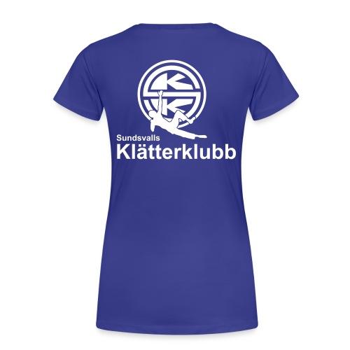 T-shirt rygg dam - Premium-T-shirt dam