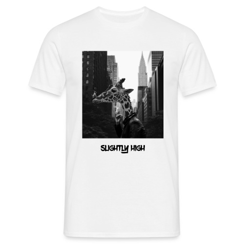 Rauchende Giraffe in New York Tshirt Herren  - Männer T-Shirt