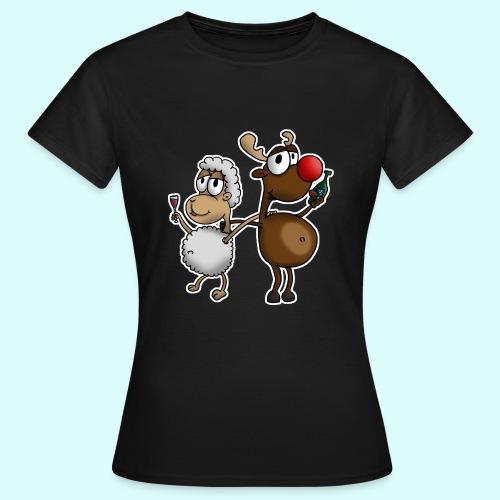 Schaf und Rentier T-Shirt für Frauen - Frauen T-Shirt
