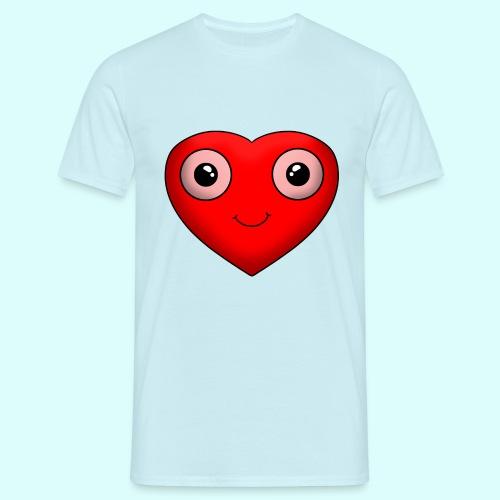 Herz T-Shirt für Männer - Männer T-Shirt