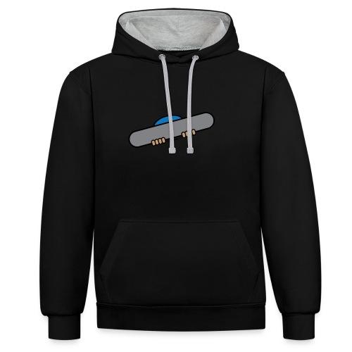 Snowboarder men's hoodie - Contrast Colour Hoodie